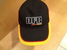 BNWT Black Yellow Red Germany DFB Deutscher Cotton Baseball Football Cap