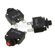 3Pcs Black DC 32V AC 125V/250V Push Button Reset Quick Connect Circuit Breaker