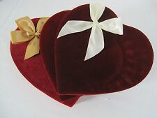 Lot of 3 Valentine Chocolate Candy Gift Box Red Velvet
