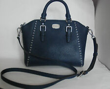 MICHAEL KORS navy Ciara Grommet saffiano leather crossbody bag BRAND NEW