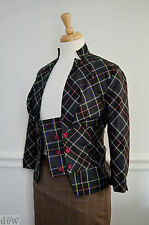 TOPSHOP rockabilly 1940's 50's PIN UP tartan JACKET suit GREEN red SEXY 8 6 32""