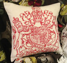 DESIGNERS GUILD ROYAL COLLECTION & EMBROIDERED EMBLEM  CUSHION COVER 50x50cm