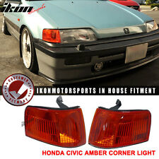 OEM 88-91 Honda Civic 5Dr Wagon Only Corner Lights Lamp Pair- JDM Amber