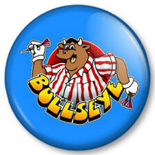 "Bullseye Bully 25mm 1"" Pin Button Badge Jim Bowen Darts Game Show TV Retro Cult"