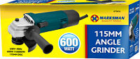 4 ½ ANGLE GRINDER 600WATT IN COLOUR BOX SET 115MM DIY TOOL KIT DICS POWER