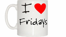 I Love Heart Fridays Mug