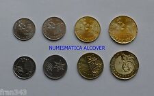 MALASIA MALAYSIA set monedas 5 10 20 50 sen 2012 km#201 202 203 204  SC / UNC