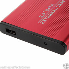 "Pouch+ Red 2.5"" SATA USB 2.0 Hard Disk Drive HD HDD CASE Enclosure Case"