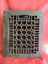 "ANTIQUE LATE 1800'S CAST IRON HEATING GRATE HONEYCOMB DESIGN 11.5 x 9.5""  b"