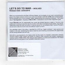 (FN337) Wolves, Let's Go To War - 2010 DJ CD