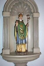 "14"" ST. PATRICK OR IRELAND STATUE Indoor / Outdoor Lovely Face DURABLE RESIN"