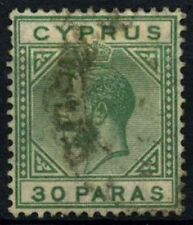 Cyprus 1921-3 SG#88, 30pa Green KGV Used #D32783