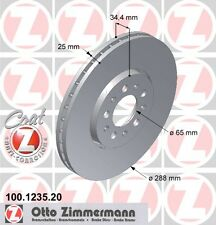 ZIMMERMANN 100.1235.20 FRONT BRAKE DISCS (COAT Z)