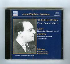 CD (NEW) SOLOMON TCHAIKOVSKY CHOPIN LISZT (GREAT PIANISTS NAXOS)