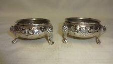Antique Victorian Sterling Silver Pair Of Open Salts Robert Harper 1870 120g
