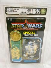 VINTAGE STAR WARS R2-D2 POP-UP LIGHTSABER AFA 90-Y 90/90/90 KENNER 1985