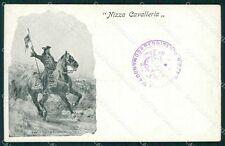 Militari Dragoni di Piemonte Nizza Cavalleria I Reggimento cartolina QT7941