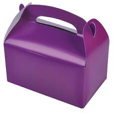 12 PURPLE COLOR TREAT BOXES Birthday Party Loot Goody Bags #ST23 FREE SHIPPING