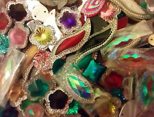 50 x mixed sew on stones dance, trim,gem,crystal  flat back