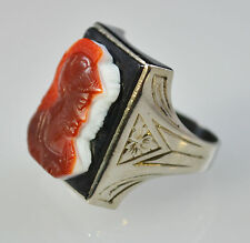 #5034 - Size 9 - 10K White Gold - Cameo Ring