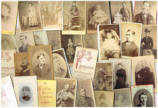 ANTIQUE FAMILY PHOTOS BULK LOT OF 100 CDV CARTES DE VISITE VICTORIAN PORTRAITS