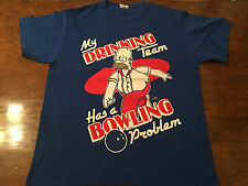 "Homer Simpson ""My Drinking Team Has a Bowling Problem"" T-Shirt – Medium Simpsons"