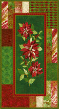 Marblehead Glistening Metallics - Poinsettia Panel(60cm Approx) 100% Cotton