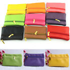 Women's Soft Lady Clutch Bag Purse Coin Card Holder Leather Zipper Wallet