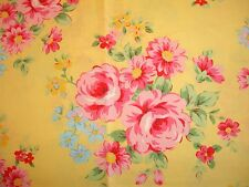 Flower Sugar 9927Y Lecien Shabby Cottage Floral Rose Chic Yellow 9927 Y OOP RARE