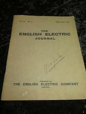 VINTAGE BOOK English Electric Journal April/June 1925 Vol III No. 2