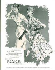 """Publicité Ancienne """" Mode KESTOS 1953 ( P. 33 ) Paulin"""