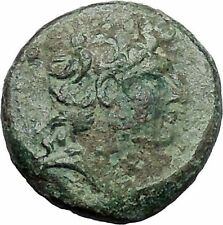 TRYPHON Seleucid King142BC Macedonian Helmet Authentic Ancient Greek Coin i47605