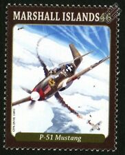 North American P-51 MUSTANG WWII Fighter Aircraft Mint Stamp (2013)