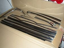 55 56 57 Chevy Belair 2 Door Sedan Window & Upper Door Trim Original GM Full Set