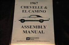 1967 CHEVELLE EL CAMINO ASSEMBLY MANUAL 100'S OF PAGES OF PICTURES, PART NUMBERS