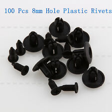 100 x 8mm Hole Plastic Car Fender Rivets Panel Clip Screw Fastener For Toyota