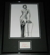 Angie Dickinson SEXY Stockings Signed Framed 11x14 Photo Display