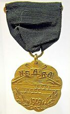 beautiful 1909 N.E.A.R.A. ROWING CREW New England Rowing badge medal pinback +