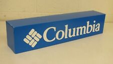 """Columbia Blue 6x6.5x30"""" Blue Corrugated Paper Board Display Sign Plastic Letters"""
