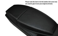 WHITE STITCHING LEATHER ARMREST SKIN COVER FITS BMW 6 SERIES E63 E64 04-11