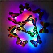 Colorful Chang Butterfly LED Night Light Lamp Home Room Party Desk Wall Decor #w