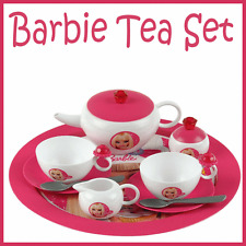 13 Piece Barbie Themed Kids Tea Party Child Play Set Cups, Teapot etc Toy New