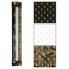 BROWNING BUCKMARK GIFT WRAPPING PAPER - MOSSY OAK CAMO, BLACK, WHITE & PINK