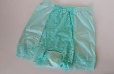 Silky Aqua Marine Green High Waist Full Pinup Style Light Control Panties S