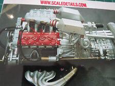 Pocher 1/8 Ferrari F40 Full Engine Transkit Super Detail 400 pcs!
