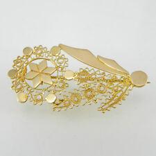 Spilla donna in oro forma fiore filigrana realizzata a mano Artigianato sardegna