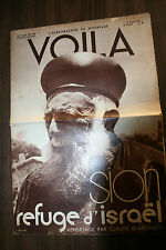 JUDAICA  JEWISH  VOILA  SION  FRENCH MAGAZINE 18 AUGUST 1934