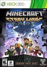 Minecraft: Story Mode -- Season Pass Disc USED SEALED (Microsoft Xbox 360, 2015)