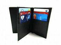 MENS NEW LUXURY SOFT REAL BLACK LEATHER CREDIT CARD HOLDER PURSE WALLET