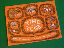 TIME & TUNE AUTUMN TERM 1960 BBC SCHOOLS (RHYTHM AND MELODY) HEATHER STANDRING